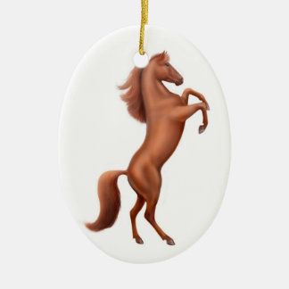 Rearing Wild Stallion Ornament