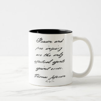 Reason by Jefferson Two-Tone Coffee Mug