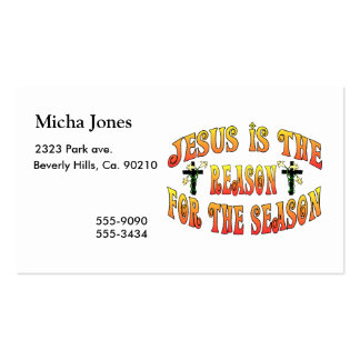 Reason For The Season Easter Business Card