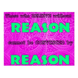 Reason Postcard