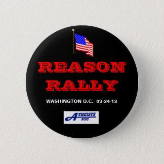 REASON RALLY BUTTON W / NYC ATHEISTS LOGO