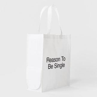 Reason To Be Single Reusable Grocery Bag