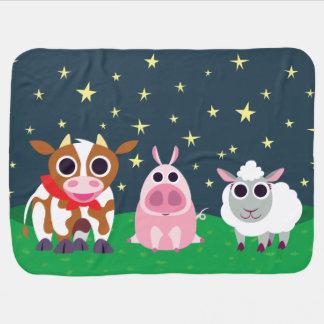Reba, Leary, and Lulu at Night Baby Blanket
