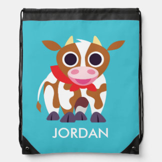 Reba the Cow Drawstring Backpack