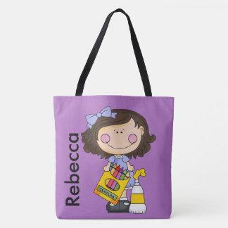 Rebecca Loves Crayons Tote Bag