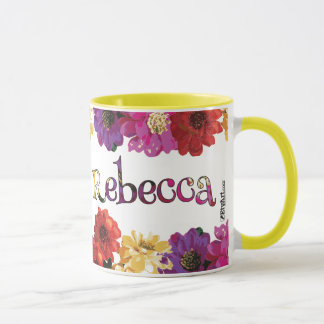 Rebecca's Colorful Fun Floral Mug