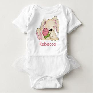 Rebecca's Personalized Bunny Baby Bodysuit