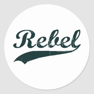 Rebel 1 round sticker