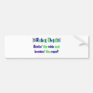 Rebel Child in Blues & Greens Bumper Sticker
