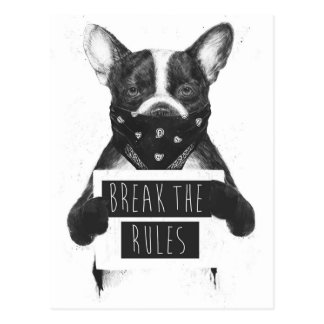 Rebel dog postcard