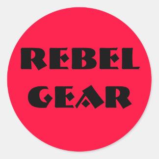 Rebel Gear Round Stickers