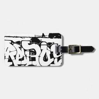 rebel graf luggage tag