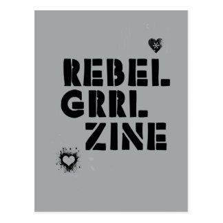Rebel Grrl Zine Postcard