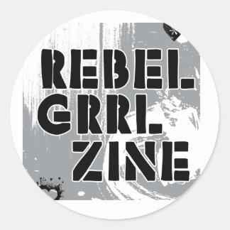 Rebel Grrl Zine Round Sticker