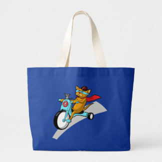 Rebel Kitty Cat with Mouse Pal Tote Bag