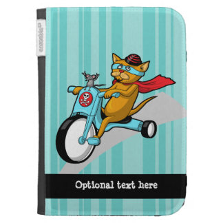 Rebel Kitty Cat with Mouse Pal Case For Kindle