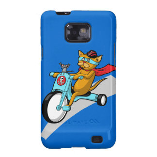 Rebel Kitty Cat with Mouse Pal Galaxy S2 Cover