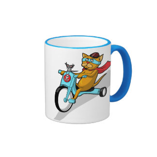 Rebel Kitty Cat with Mouse Pal Coffee Mug