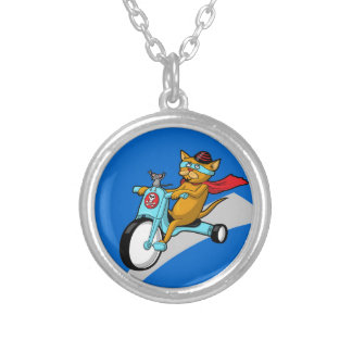 Rebel Kitty Cat with Mouse Pal Personalized Necklace