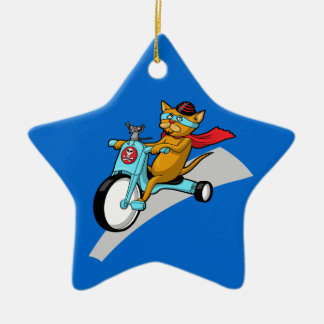 Rebel Kitty Cat with Mouse Pal Ornament