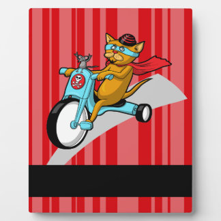 Rebel Kitty Cat with Mouse Pal Display Plaque