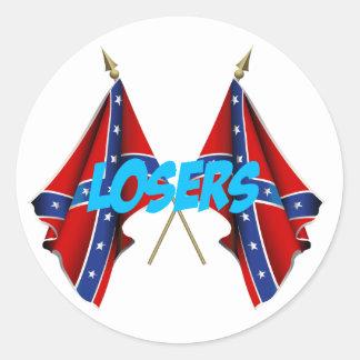 Rebel Losers Round Sticker