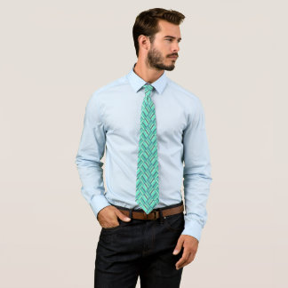 Rebel Mint Three-Tone Diamond Pattern Tie