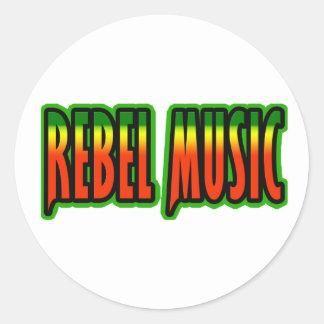 Rebel Music Classic Round Sticker