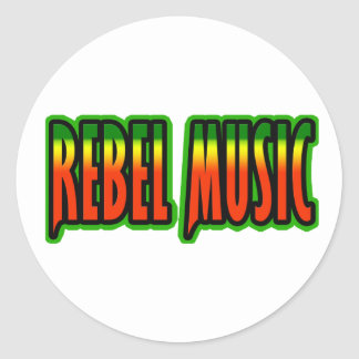Rebel Music Round Sticker