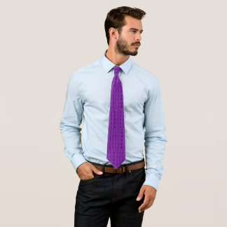 Rebel Purple Ornate Diamond Pattern Tie