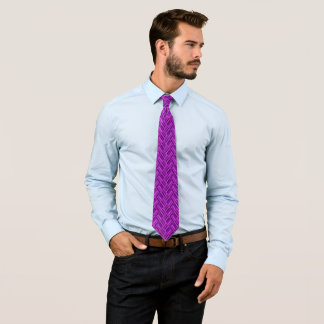 Rebel Purple Three-Tone Diamond Pattern Tie