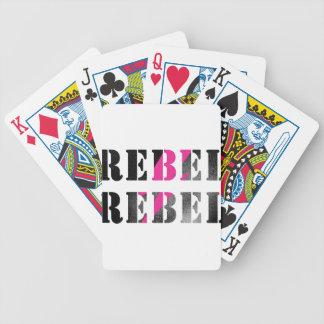 rebel rebel #2 bicycle playing cards
