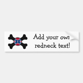 Rebel Redneck Bones Bumper Sticker