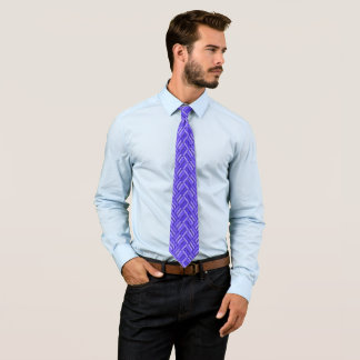 Rebel Royal Blue Three-Tone Diamond Pattern Tie