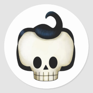 Rebel Skull Round Sticker