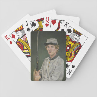 Rebel Soldire Portrait Art Playing Cards