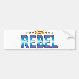 Rebel Star Tag v2 Bumper Sticker