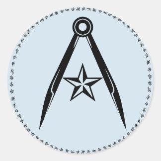 Rebel Terran compass and star Sticker (Blue)