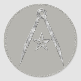 Rebel Terran compass and star Sticker (Dark Gray)