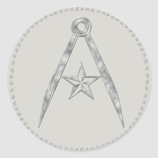 Rebel Terran compass and star Sticker (Gray)