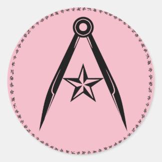 Rebel Terran compass and star Sticker (Pink)
