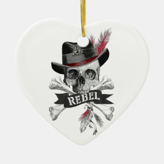 Rebel Tribal Gothic Skull Ornament
