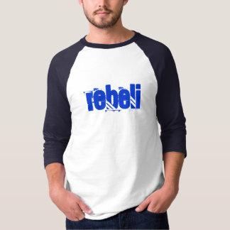 REBELi Blue Logo Baseball Style Tee