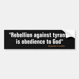 Rebellion Bumper Sticker