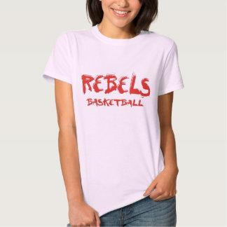 REBELS Basketball Mural Red Shirt