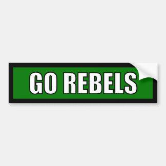 Rebels - Black Green White Bumper Sticker