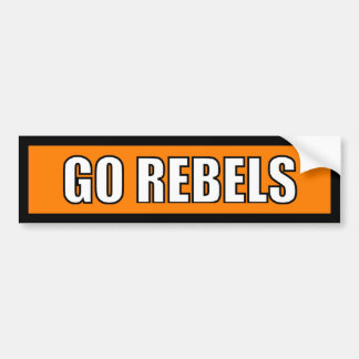 Rebels - Black Orange White Bumper Sticker