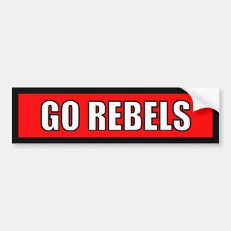 Rebels - Black Red White Sticker Bumper Sticker