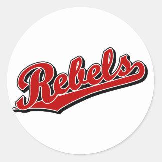 Rebels in Red Round Sticker
