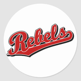 Rebels in Red Round Stickers